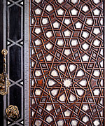 Shell Pattern Framed Prints - Sultan Ahmet Mausoleum Door 01 Framed Print by Rick Piper Photography