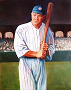 Babe Ruth Paintings - Sultan of Swat by John Kennedy Wilson