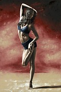 Dancer Paintings - Sultry Dancer by Richard Young