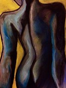 Shoulder Pastels Originals - Sultry nude by Karen Larter