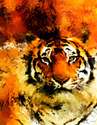Tiger Digital Art Framed Prints - Sumatran Framed Print by Lourry Legarde