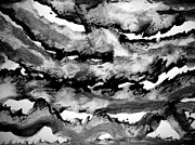 Cloud Drawings Originals - Sumi-e 130225-2 by Aquira Kusume