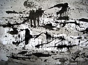 Clay Drawings - Sumi-e 130422-2 by Aquira Kusume