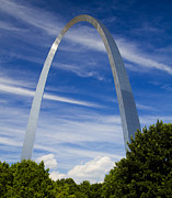 Jefferson National Expansion Memorial Posters - Summer afternoon at the St Louis Arch Poster by Garry McMichael