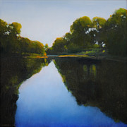 Summer Framed Prints Paintings - Summer Afternoon on Turtle Creek by Cap Pannell