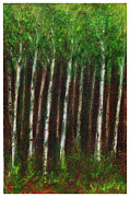 Kansas Artist Pastels Framed Prints - Summer Alders Framed Print by Tod Estes
