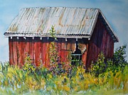 Spokane Painting Framed Prints - Summer Barn Framed Print by Lynne Haines