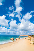Lapping Prints - Summer Beach Algarve Portugal Print by Christopher and Amanda Elwell