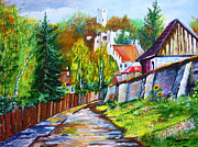 Pathway Paintings - Summer Bloom in Kazimierz Dolny by Ryszard Sleczka