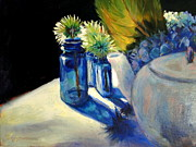 Teapot Paintings - Summer Blues by Bonnie Seyford