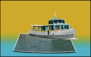 3d World Prints - Summer Boat Ride 02 Walt Disney World Print by Thomas Woolworth