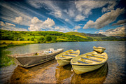Landscape Tapestries Textiles Prints - Summer Boating Print by Adrian Evans