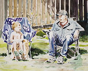Bonding Painting Prints - Summer bonding Print by Gertrude Asplund