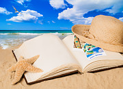 Beach Photograph Posters - Summer Book Poster by Christopher and Amanda Elwell