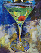 Booze Painting Framed Prints - Summer Breeze Martini Framed Print by Michael Creese