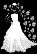 Bride Mixed Media Posters - Summer Bride Poster by Eliz Calder