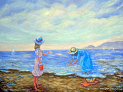 New Britain Painting Posters - Summer by the Sea... Poster by Glenna McRae