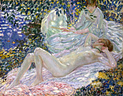 Sensuous Framed Prints - Summer Framed Print by Carl Frieseke