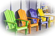 Lincoln City Prints - Summer Chairs Print by Katie  Wing Vigil