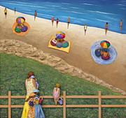 Beach Sculpture Posters - Summer Colours Poster by Anne Klar
