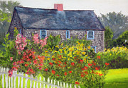 Country Cottage Pastels Framed Prints - Summer Cottage Framed Print by Shelley Koopmann