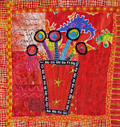 Bright Tapestries - Textiles Posters - Summer Dance Poster by Susan Rienzo