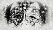 Dutch Girl Prints - Summer Darkness. Mask. Gothic Festival in Utrecht Print by Jenny Rainbow