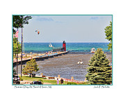 South Haven Framed Prints - Summer Day at South Haven MI Framed Print by Jack Schultz