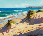 Sand Dunes Paintings - Summer Day The Entrance by Graham Gercken