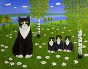 Cat Paintings - Summer Day by Veikko Suikkanen