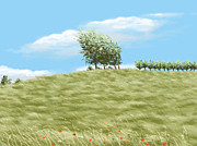 Field Digital Art - Summer day by Veronica Minozzi