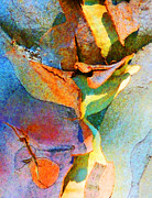 Coloured Bark Framed Prints - Summer Eucalypt Abstract 9 Framed Print by Margaret Saheed