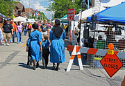 Amish Family Art - Summer Festival in Berne Indiana II by Suzanne Gaff