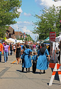 Amish Family Art - Summer Festival in Berne Indiana by Suzanne Gaff