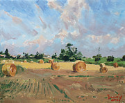 Farm Fields Painting Originals - Summer Fields in Georgetown ON by Ylli Haruni