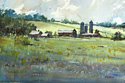 Wisconsin Landscape  Painting Originals - Summer Fields by Ryan Radke