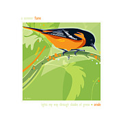 Oriole Digital Art Posters - Summer Flame -Oriole Poster by Sandy Hokanson