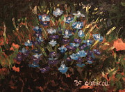 Patrick Paintings - Summer Flowers Lobelia by Patrick ODriscoll