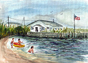 Jersey Shore Painting Originals - Summer fun before Sandy by Clara Sue Beym