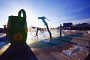 Monmouth County Park Prints - Summer Fun in the Water park Print by George Oze