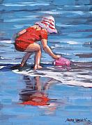 Reflections In Water Painting Posters - Summer Fun Poster by Laura Lee Zanghetti