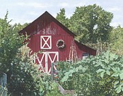 Ralph N Murray III - Summer Garden and Barn