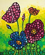 Framed Prints Prints - Summer Garden Print by Sharon Cummings