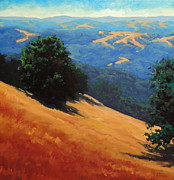 Sonoma Painting Prints - Summer Hills Print by Steven Guy Bilodeau