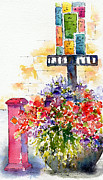 Flowers Posters Posters - Summer In The City Poster by Pat Katz