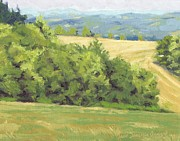 Paysage A L Prints - Summer in the hills - Ete parmi les collines Print by David Ormond