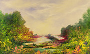 Mystical Landscape Art - Summer Joy by Hannibal Mane