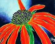 Jrcarmax Paintings - Summer Kissed Cone Flower by Jackie Carpenter