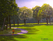 Jogging Paintings - Summer Landscape by Patrick ODriscoll