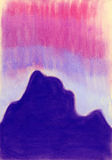 Abstract Landscape Pastels - Summer Midnight by Hakon Soreide